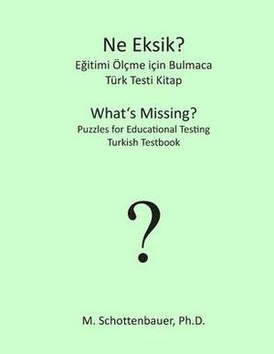 What's Missing? Puzzles for Educational Testing: Turkish Testbook