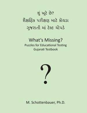 What's Missing? Puzzles for Educational Testing: Gujarati Testbook