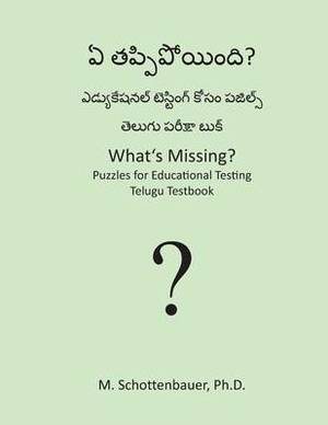What's Missing? Puzzles for Educational Testing: Telugu Testbook