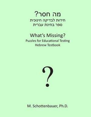 What's Missing? Puzzles for Educational Testing: Hebrew Testbook