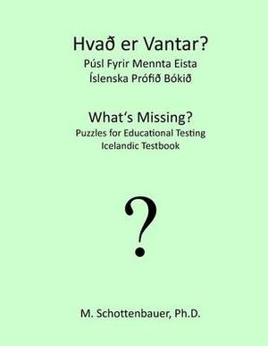 What's Missing? Puzzles for Educational Testing: Icelandic Testbook
