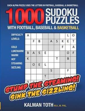 1000 Sudoku Puzzles with Football, Baseball & Basketball