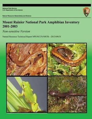 Mount Rainier National Park Amphibian Inventory 2001-2003: Non-Sensitive Version