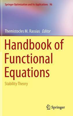 Handbook of Functional Equations: Stability Theory