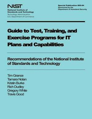 Guide to Test, Training, and Exercise Programs for It Plans and Capabilities