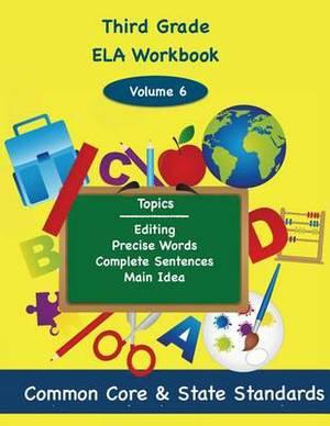 Third Grade Math Volume 6: Editing, Precise Words, Complete Sentences, Main Idea