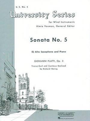 Sonata No. 5: Alto Saxophone Solo with Piano - Grade 4