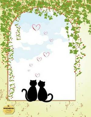 Writedrawdesign Notebook, College Ruled, 8.5 X 11 Inches, Sweetheart Cats