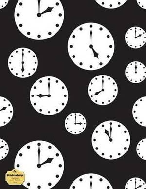 Writedrawdesign Notebook, Wide Ruled, 8.5 X 11 Inches, Clocks