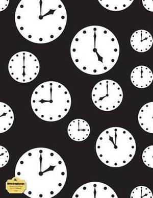 Writedrawdesign Notebook, Blank/College Ruled, 8.5 X 11 Inches, Clocks