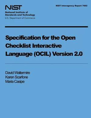 Specification for the Open Checklist Interactive Language (Ocil) Version 2.0