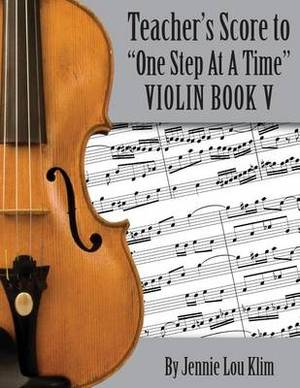 One Step at a Time: The Teacher's Score, Violin V