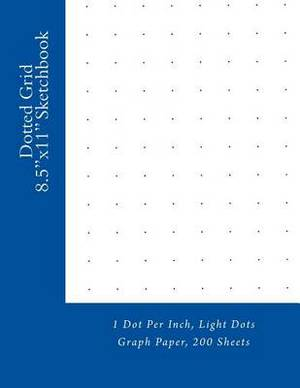Dotted Grid 8.5x11 Sketchbook: 1 Dot Per Inch, Light Dots Graph Paper, 200 Sheets