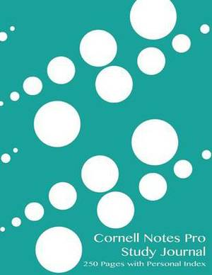 Cornell Notes Pro Study Journal 250 Pages with Personal Index: Dewdrops Notebook for Cornell Notes with Turquoise Cover - 8.5x11 Ideal for Studying, Includes Personal Index for All 250 Numbered Study Pages and a Guide to Effective Studying and Learning.