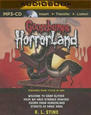 Goosebumps Horrorland Boxed Set #3: Welcome to Camp Slither, Help! We Have Strange Powers!, Escape from Horrorland, Streets of Panic