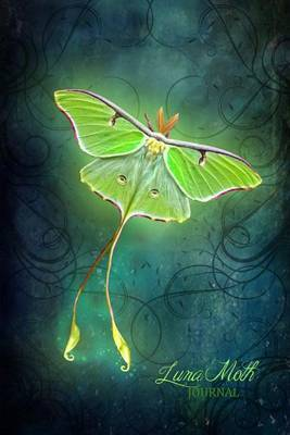 Luna Moth Journal: (Notebook, Diary, Blank Book) Butterfly 6x9