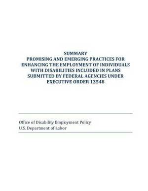 Summary Promising and Emerging Practices for Enhancing the Employment of Individuals with Disabilities Included in Plans Submitted by Federal Agencies Under Executive Order 13548