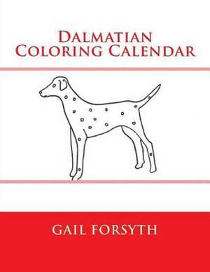 Dalmatian Coloring Calendar
