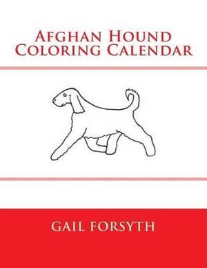 Afghan Hound Coloring Calendar