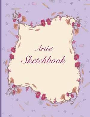 Artist Sketchbook: Purple Flower