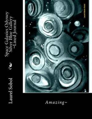 Space Galaxies Odyssey Silver Blue Gallery Lined Journal