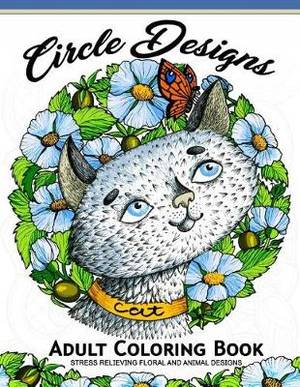 Circle Design Adult Coloring Book Animal And Flower Pattern To Color Anti Stress