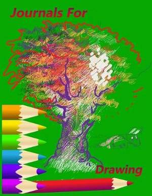 Journals For Drawing: Blank Doodle Draw Sketch Books