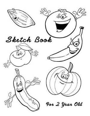 Sketch Book For 2 Year Old: Blank Doodle Draw Sketch Book