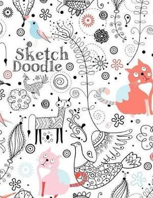 Sketch Doodle: Blank Doodle Draw Sketch Book