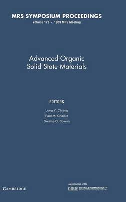 Advanced Organic Solid State Materials: Volume 173