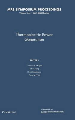 Thermoelectric Power Generation: Volume 1044