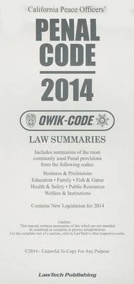 California Peace Officers' Penal Code: Law Summaries