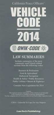 California Peace Officers' Vehicle Code: Law Summaries