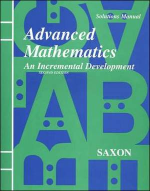Saxon Advanced Math Solutions Manual Second Edition