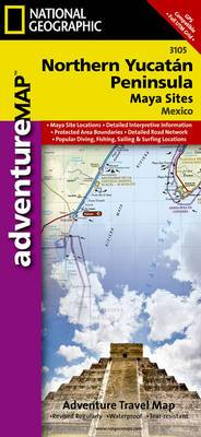 Northern Yucat n/Maya Sites, Mexico: Travel Maps International Adventure Map