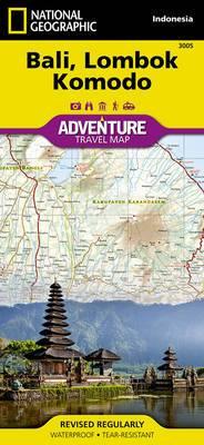 Bali, Lombok, and Komodo: Travel Maps International Adventure Map