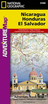 Nicaragua, Honduras, El Salvador: Travel Maps International Adventure Map