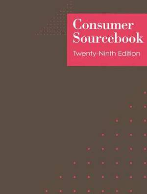 Consumer Sourcebook: 3 Volume Set