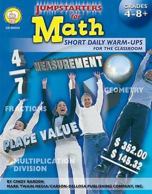 Jumpstarters for Math, Grades 4 - 8