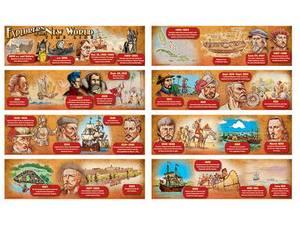 Exploring the New World Time Line Mini Bulletin Board Set