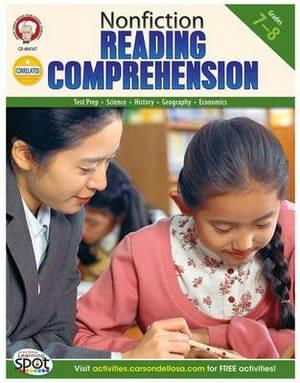 Nonfiction Reading Comprehension, Grades 7 - 8