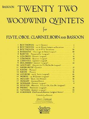 22 Woodwind Quintets - New Edition: Bassoon Part