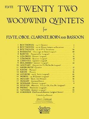 22 Woodwind Quintets - New Edition: Flute Part