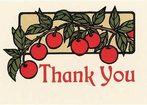 Cherry Thank You (Boxed)