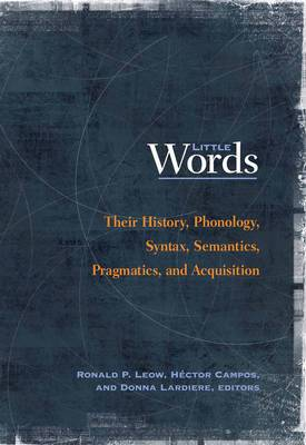 Little Words: Their History, Phonology, Syntax, Semantics, Pragmatics, and Acquisition