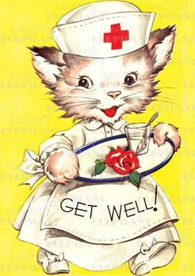 Cat Nurse Get Well - Greeting Card