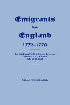 Emigrants from England 1773-1776
