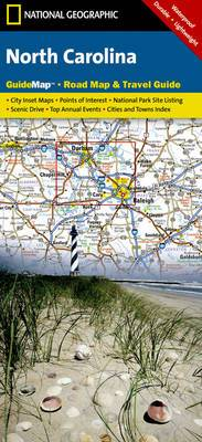 North Carolina: Guide Map, Road Map & Travel Guide