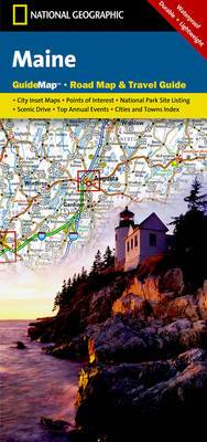 Maine: Guide Map, Road Map & Travel Guide