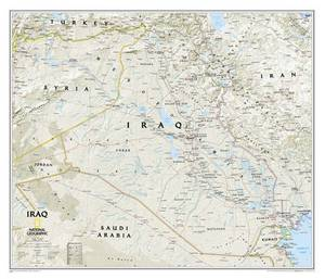 Iraq Classic, Tubed: Wall Maps Countries & Regions